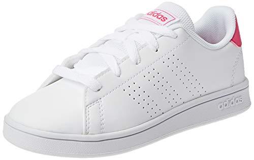 Adidas Advantage K, Zapatillas de Tenis Unisex niño, Blanc Rose Intense Blanc, 32 EU