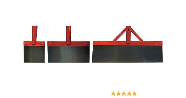Feuille dacier /à ressort solide peinture et papiers-peints Diff/érentes largeurs Grattoir avec manche en bois robuste Pour sols