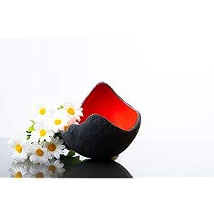 Lichtschale rot - M (20cm) - Beton schwarz - grau | Unikat handmade | Geburtstagsgeschenk | Einzigartiges Geschenk | Gartendeko | Muttertagsgeschenk