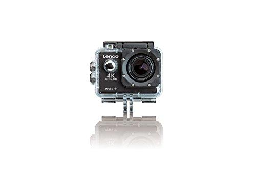"""Lenco Action Cam SPORTCAM-700, HD Action Cam 4K mit Wifi und umfangreichem Zubehör (Full HD 1080P, 4K 30fps, 2"""" Display, Weitwinkelobjektiv, integrierter Akku)"""