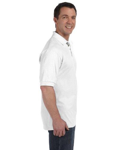 Hanes Herren Poloshirt Weiß