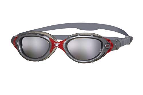 Zoggs Schwimmbrille Predator Flex silber verspiegeltes Glas (Predator Mirror)
