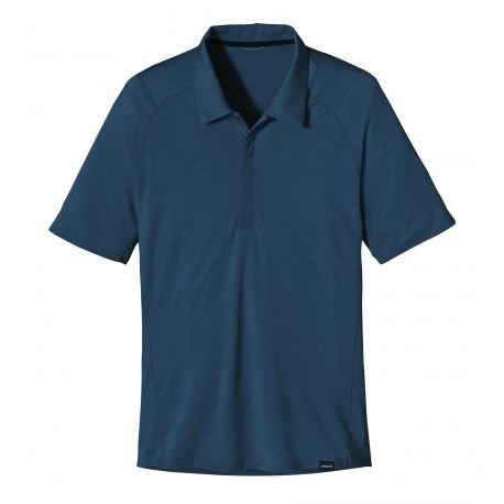 Patagonia Maglietta da uomo M' S Merino 2LW polo, Uomo, Shirt M'S Merino 2 LW Polo, Vetro blu, S