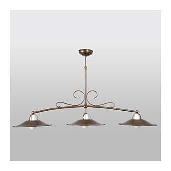 lustre fer forg t lescopique cuir antique luminaires et eclairage. Black Bedroom Furniture Sets. Home Design Ideas