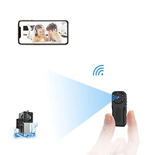 Wifi Micro Telecamera Nascosta Spia Subacquea,NIYPS 1080P Portatile Senza Fili Mini Telecamera Videosorveglianza con Visione Notturna,Sensore di Movimento y Batteria, Esterno/Interno Microcamere Spia