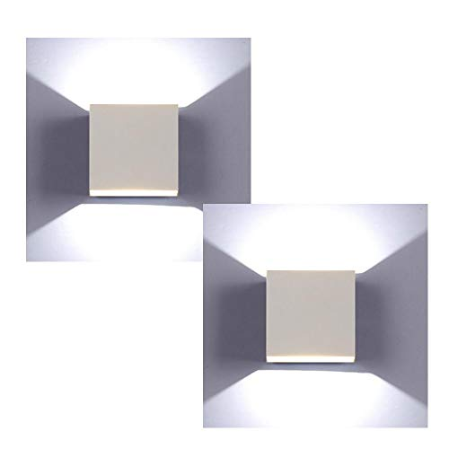 XIAJIA-2 pcs 6W LED Lámpara de pared Interior,Moderna Apliques de Pared,perfecto para Lámpara de Decoración...