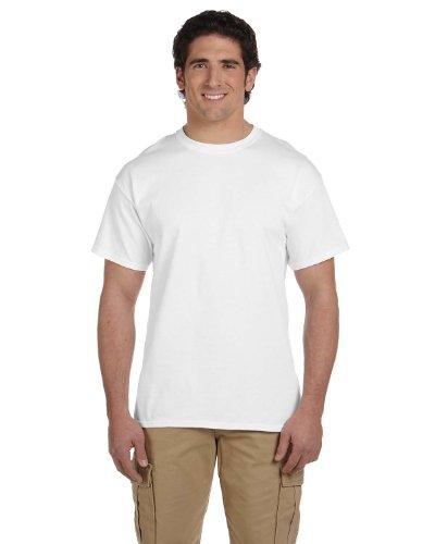 gildan-t-shirt-a-manches-courtes-homme-xl-blanc