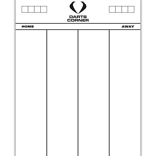 Darts Corner Dart-Eck-Markierungstafel, strapazierfähiges Acryl, trocken abwischbar, 50 x 40 cm, Whiteboard, 501