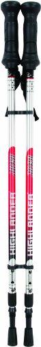 Highlander Jura Walking Pole – Red/Silver