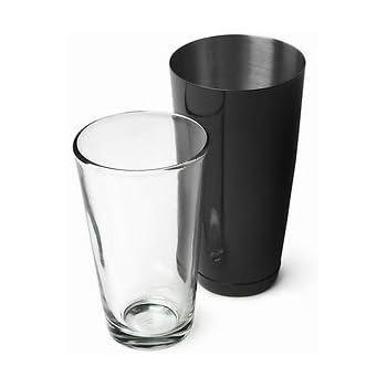 Radioactivebarman- Boston Tin Nero +Shaker Vetro Attrezzatura Barman Bartender Rad 01