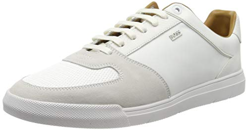 BOSS Herren Cosmo_Tenn_mx Sneaker, Weiß (White 100), 39 EU