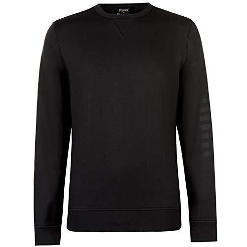 Everlast Agile Rundhalsausschnitt Sweatshirt Herren Pullover Pullover - Schwarz, XL -