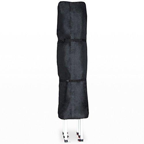 TOOLPORT PROFIZELT24 Schutzhülle für 3x4,5 m Pavillon Faltzelt Gartenpavillon Klappzelt Faltpavillon, in schwarz aus wasserfestem und schmutzabweisendem Oxford-Material 480 g/m²