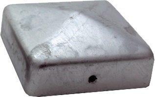 haebelholz 20 Stück Pfostenkappe verzinkt 91x91 mm Pyramide