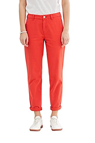 edc by ESPRIT 047cc1b033, Pantalon Femme, Rouge (Orange Red), W42/L32 (Taille Fabricant: 42/REG)