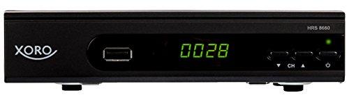 fernseher mit usb aufnahme Xoro HRS 8660 digitaler Satelliten-Receiver mit LAN Anschluss (HDTV, DVB-S2, HDMI, SCART, PVR-Ready, USB 2.0) schwarz