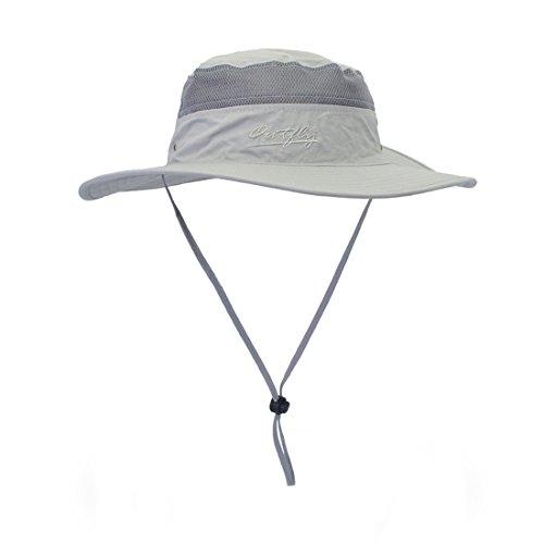 Laowwo cappello estivo con protezione uv a bordi larghi asciugatura rapida donna uomo per escursionismo/campeggio / viaggio
