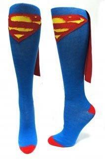 perhero blau Erwachsene Knee High Cape Sock Small (Superman Socken)