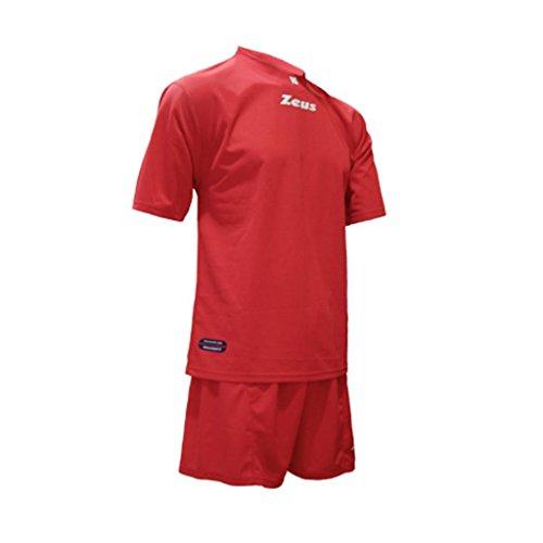 Kit Zeus Promo Rosso Completino Completo Calcio Calcetto Muta Torneo Scuola Sport (M)