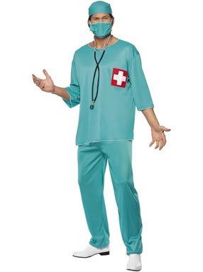 Arzt Krankenpfleger OP Kittel Gr. 48/50 (M), 52/54 (L), Größe:M (Arzt Kostüme)