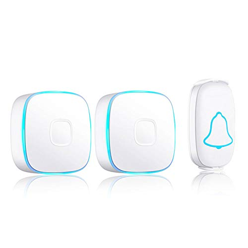 AIXIAOYU WeißE TüRklingel Home Music Wireless wasserdichte TüRklingel Long Distance Smart TüRklingel
