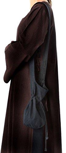 Mittelalter Umhänge-Tasche schwarz klein Baumwolle- Mittelalter Kleidung - 2