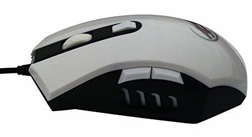 Alta precisione DPI simmetrico Optical Mouse USB cablata con 6 pulsanti Wired Gaming Mouse, ergonomico Mouse nero per Pro
