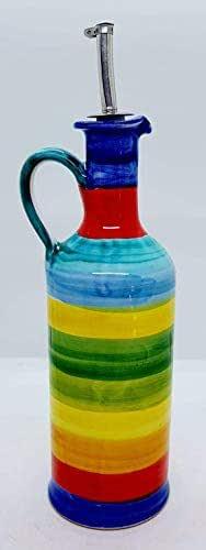 Oliera da tavola Linea Policromo Handmade Le Ceramiche del Castello Made in Italy Dimensioni 20 H x 8 L cm.