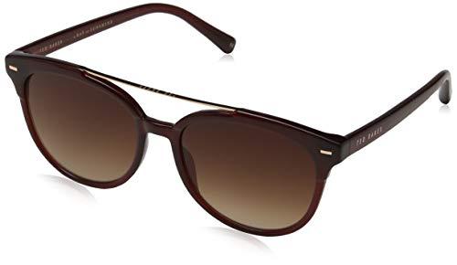Ted Baker Damen Solene Sonnenbrille, Rot (Burgundy/Grey), 54.0