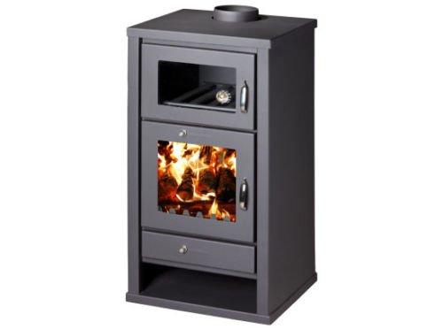 Estufa de leña chimenea de horno cocina de combustible sólido Log quemador...
