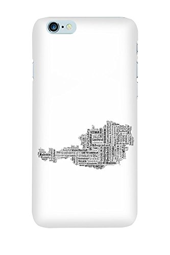 """artboxONE Handyhülle Apple iPhone 6s, schwarz Hard-Case Handyhülle """"Austria Map Black Case"""" - Schwarzweiß Typografie - Smartphone Case mit Kunstdruck hochwertiges Handycover von David Springmeyer Premium Case"""
