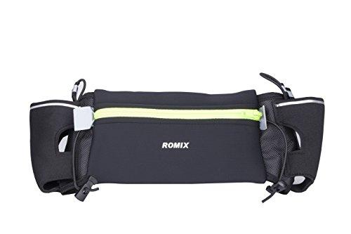 Premium cintura di idratazione, Cintura da Corsa, resistente all' acqua Guide Fuel Cintura Marsupio Borsa interna chiave per esercizi, sport all' aperto, passeggiate, Trekking, corsa, ciclismo, ciclismo, Surf e altro, DOUBLE