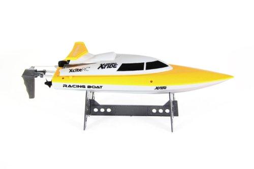 XciteRC 40002000 - Xtide Micro Ready to Race Rennboot mit 2.4 GHz Fernsteuerung, gelb/weiß