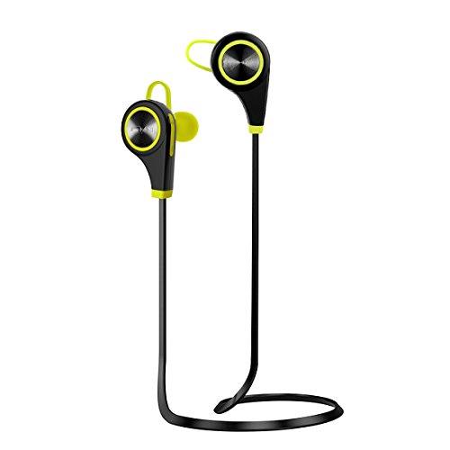 Plustore Kabellos Sports Stereo Kopfhörer Bluetooth 4.1 Noise Cancelling Handfrei In-Ear-Ohrhörer mit Mikrofon für Android, iPhone, PC und andere Smartphones für Fitness-Übung