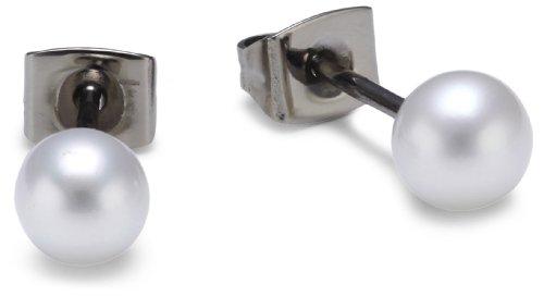 Boccia Damen-Ohrstecker Titan (Pr) Perle 0535-01