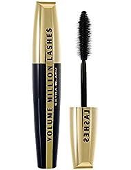 L'Oréal Paris Volume Million Lashes Extra-Black, tiefschwarze Mascara mit Wimpern-Multiplizier-System für sichtbar mehr Volumen, 9 ml