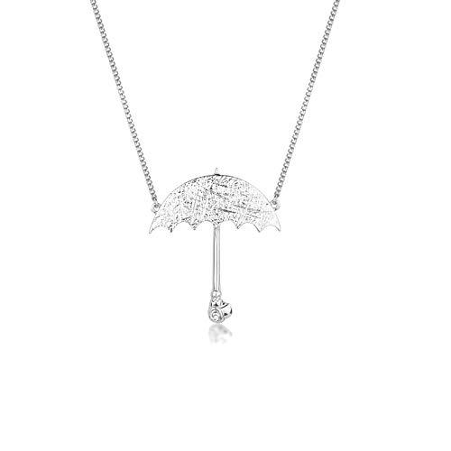 Disney Couture Kingdom Halskette mit Regenschirm, Motiv Mary Poppins, Weiß vergoldet - Disney Couture Schmuck
