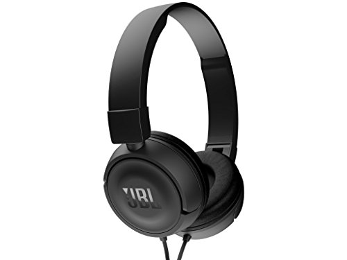 JBL T450 Extra Bass On-Ear Headphones with Mic (Black)