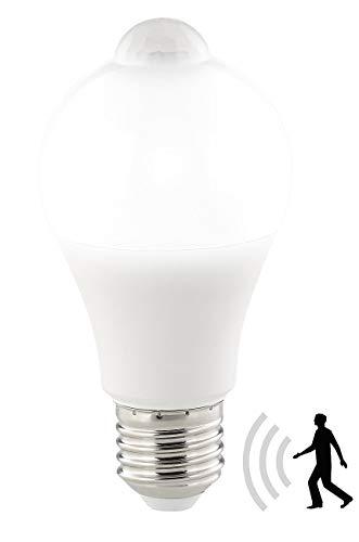 Luminea Sensorbirne: LED-Lampe, PIR-Sensor, 12 W, E27, tageslichtweiß, 6500 K, 1.055 Lumen (LED Lampe mit Bewegungsmelder)