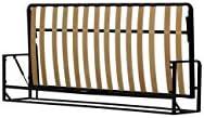 Cama De Matrimonio Abatible Horizontal 90 x 190 cm (cama doble estilo Murphy Bed, cama plegable, sofá cama, mueble cama oculta).