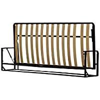 Einzel WANDBETT (Quer) 90x200 (Klappbett, Schrankbett, Gästebett, Funktionsbett) Horizontal 90cm x 200cm WALLBEDKING Classic
