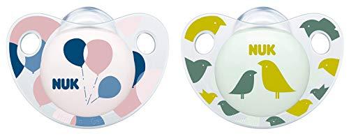 NUK Trendline Silikon-Schnuller, kiefergerechte Form, 18-36 Monate, 2 Stück, rosa