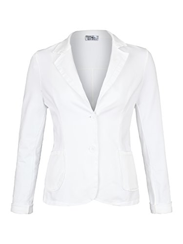 Damen Blazer Vintage Style ( 611 ), Farbe:Weiß, Blazer 1:44 / XXL