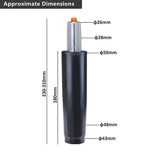 Duhome Gasdruckfeder Gasfeder Gas Lift Höhenverstellung für Stühle bis 180 kg Farbauswahl (25-32 cm, Schwarz)