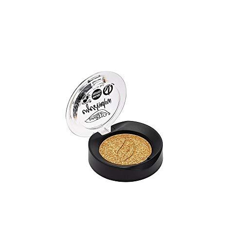 PUROBIO - Kompakter Lidschatten in Schälchen n. 24 - Goldschimmer - Hochpigmentiert - Nickel getestet, Vegan OK, CCPB - 2,5 gr