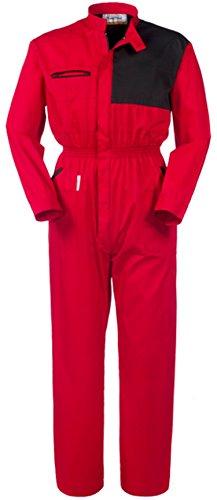 Tuta Da Lavoro Rosso E Nero Collo Coreana X Meccanici Gommisti A43107 (XL)