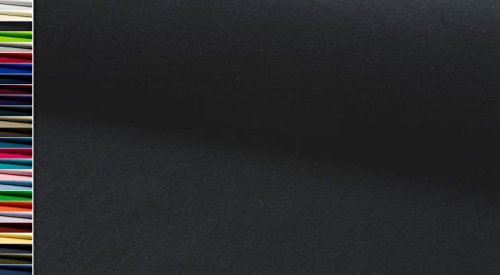 StoffBook EDEL BAUMWOLLE STRETCH SAMTSTOFF NICKISAMT STOFF STOFFE, D281 (schwarz) (Baumwolle Schwarze Samt)