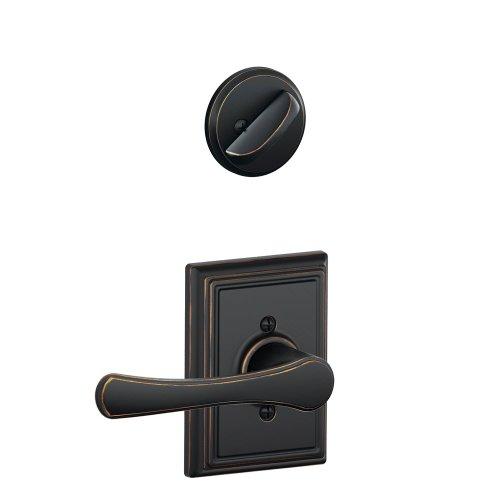 Schlage F59 VLA 716 ADD 12-326 10-269 134 N N SL Addison Collection Avila Handleset Interior Lever, Aged Bronze (Interior Half Only) by Schlage Lock Company -