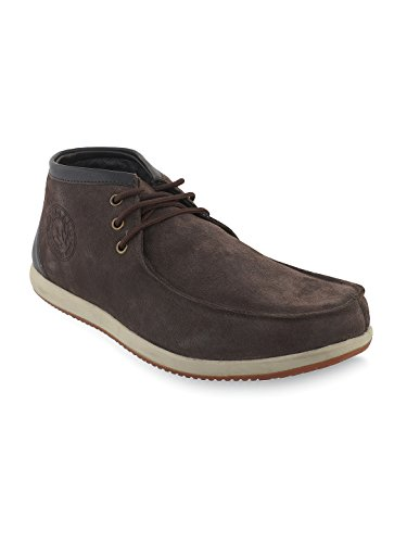 Woodland Men's Dark Brown Leather Sneakers - 10 UK/India (44 EU)  available at amazon for Rs.1846