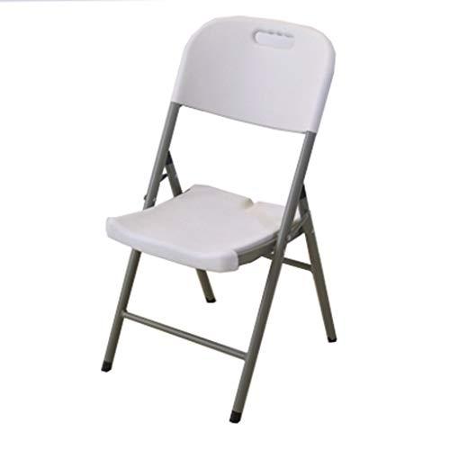 KHL Multifunktionaler tragbarer Plastikklappstuhl, Haushaltstisch-Bambusstuhl-Schemel-Fischen-Stuhl-Klappstuhl-Freizeit-Stuhl-Büro-Stuhl (Farbe : Weiß)